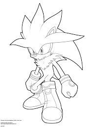 lineart silver the hedgehog by angrysonicgamer on deviantart