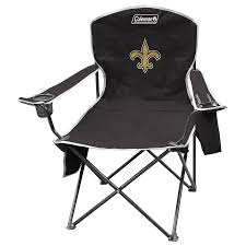 shop coleman nfl new orleans saints steel chair at lowes com
