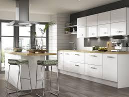 modern white kitchen with wood worktop modern kitchen design