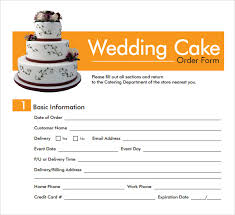 wedding cake order form sle cake order form template 13 free documents in