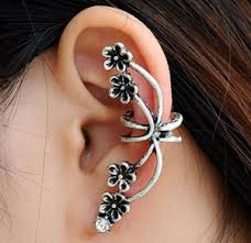 ear wraps and cuffs ear cuff wraps the fancy earring a thrifty recipes crafts