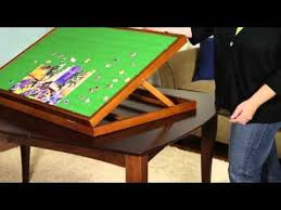 jigsaw puzzle tables portable puzzleboard jigsaw puzzle storage made easy youtube