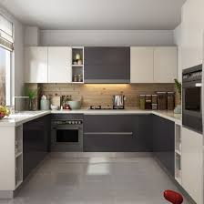 gray brown stained kitchen cabinets china matte lacquer finish brown u shape wooden furniture