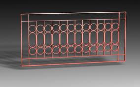 window grill iron design 09 pack 3d model in decoration 3dexport