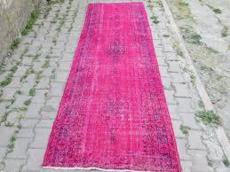 Overdyed Runner Rug Endearing Overdyed Runner Rug With Stylish Pink Runner Rug Vintage