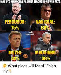 Manu Meme - man utd managers premier leaguehomewin rate ferguson vangaal 75