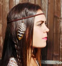 leather headband headband squaw braided leather headband