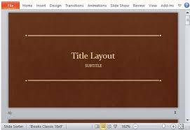 powerpoint template book theme classic book template for