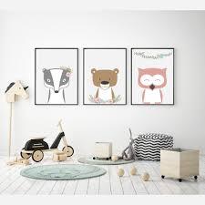 nursery posters woodland animals flowers ii emu gallery mock up poster frame in children bedroom scandinavian style int