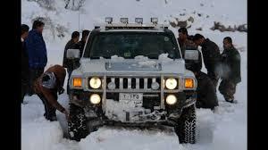 hummer jeep 2013 hummer h3 off road in 60 cm snow iraq kurdistan 10 01 2013