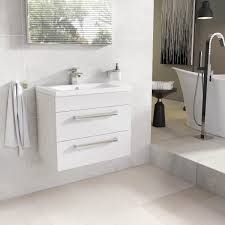 nante 600mm wall mounted vanity unit u0026 ceramic basin gloss white