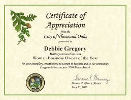 doc 585440 certificate of appreciation examples u2013 sample