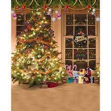 christmas background pictures vinyl tree wreath gift window child