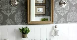 powder room bathroom ideas powder room makeover idea using a stencil hometalk