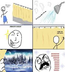 Meme Shower - shower in the winter time fffffffuuuuuuuuuuuu meme memetripper
