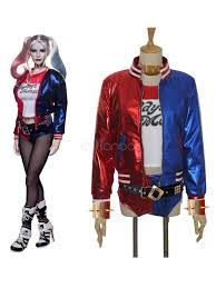 Halloween Costume Leather Jacket Squad Harley Quinn Cosplay Costume Halloween