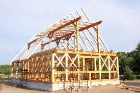 house building ecological wooden house building area and construction stock