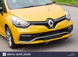 renault clio rs 2013 model with yellow colour hatch car stock