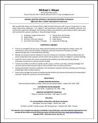 Automotive Resume Examples by Resume Samples For All Professions And Levels