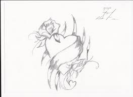 pencil drawings of hearts and roses heart coloring pages how to