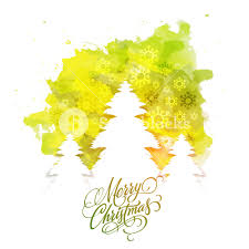 white xmas trees on snowflakes decorated abstract background for