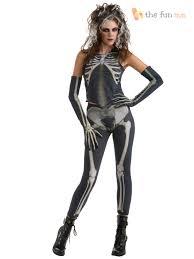 Skeleton Jumpsuit Ladies Skeleton Catsuit Jumpsuit Fancy Dress Halloween