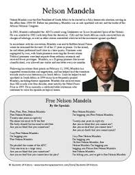 nelson mandela his biography nelson mandela biography song lyrics and questions by students of