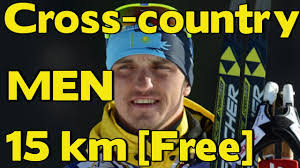 cross country skiing men 15 km free style world cup ulricehamn