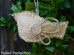 posed perfection burlap bird ornaments