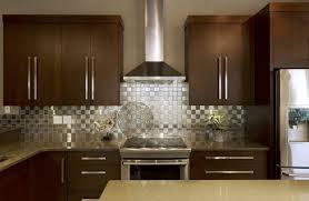 kitchens with stainless steel backsplash stainless steel backsplash with dark cabinets white ceiling