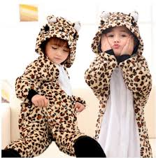 Baby Tiger Halloween Costume 2017 Leopard Bear Kigurumi Pajamas Baby Animal Suits Cosplay