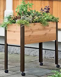 herbs planter raised herb garden planter gardening ideas