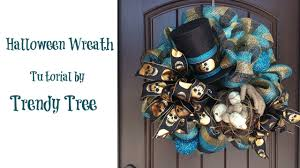 Halloween Wreath Supplies by Halloween Wreath With Top Hat Mummy Hands And Bird Nest Youtube