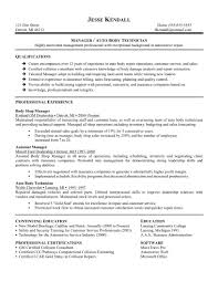 resume sample for technician technical resume formats free resume example and writing download manager auto body technician resume sample with qualificational and professional experience