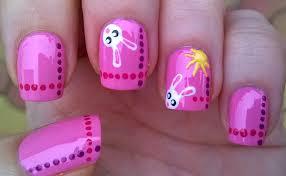 life world women super easy easter bunny nail art