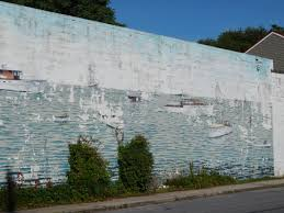 vintage eastport boats wall mural bayartisans the mural depicts boats the have a relationship to eastport by being designed built or just have a history with eastport as you can see this mural has