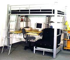 desk awesome metal bunk beds bunk bed with desk and chair