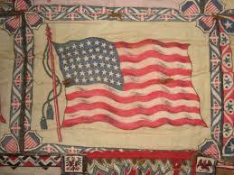 Us Flag 1860 Tobacco Flag Quilt Circa 1915 A Fine Collection
