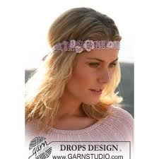 crochet hair band hair band crochet pattern with flowers in drops cotton