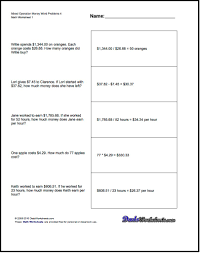 money word problems for mixed operation money word problems 4