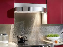Fasade Kitchen Backsplash Panels Amusing Silver Color Stainless Steel Kitchen Backsplash Featuring