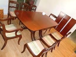 Antique Mahogany Dining Room Furniture Vintage Tell City Mahogany Dining Room Table U0026 8 Chairs U0026 3 Extra