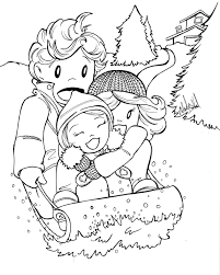 sledding coloring pages free winter coloring pages chuckbutt com