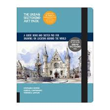urban sketching art pack a guide book and sketch pad to drawing