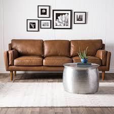tan brown leather sofa carson carrington beatnik oxford leather tan sofa free shipping