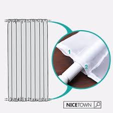 Top And Bottom Rod Curtains Amazon Com Sheer French Door Curtain For Window Nicetown