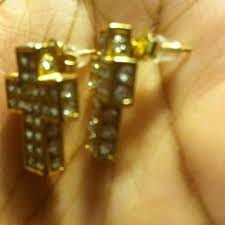 Hutch Jewelry 69 Off Hutch Jewelry 24k Gold Cross Earrings From Cierra U0027s
