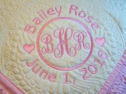 monogrammed baby quilts co nnect me