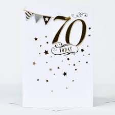 70th Birthday Cards 70th Birthday Card Bunting Only 99p