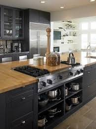 kitchen island with stove top kitchen island with butcher block foter